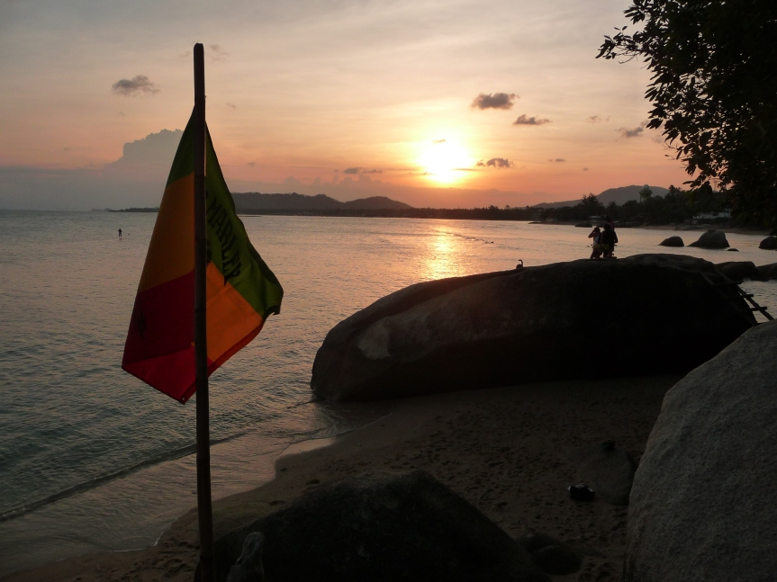 Sunset at The Rock Bar, Lamai.