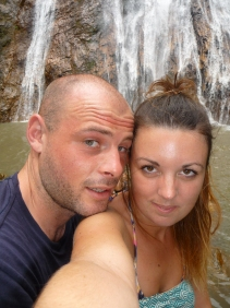 Obligatory 'happy couple at the waterfall picture'