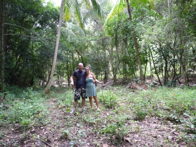 Accidental jungle trekkers (now armed with sticks; post snake incident!)
