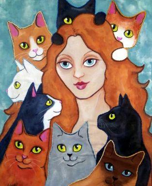 Cat-Lady-Art-Quilt