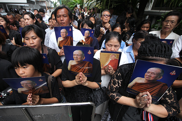 A month of mourning in Thailand.
