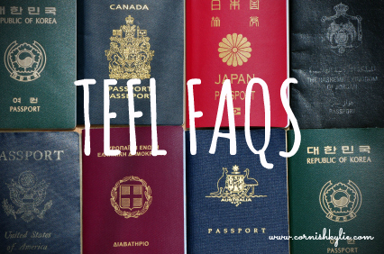 TEFL FAQ visa part 1
