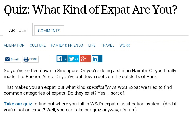 Quiz: What Kind of Expat AreYou?